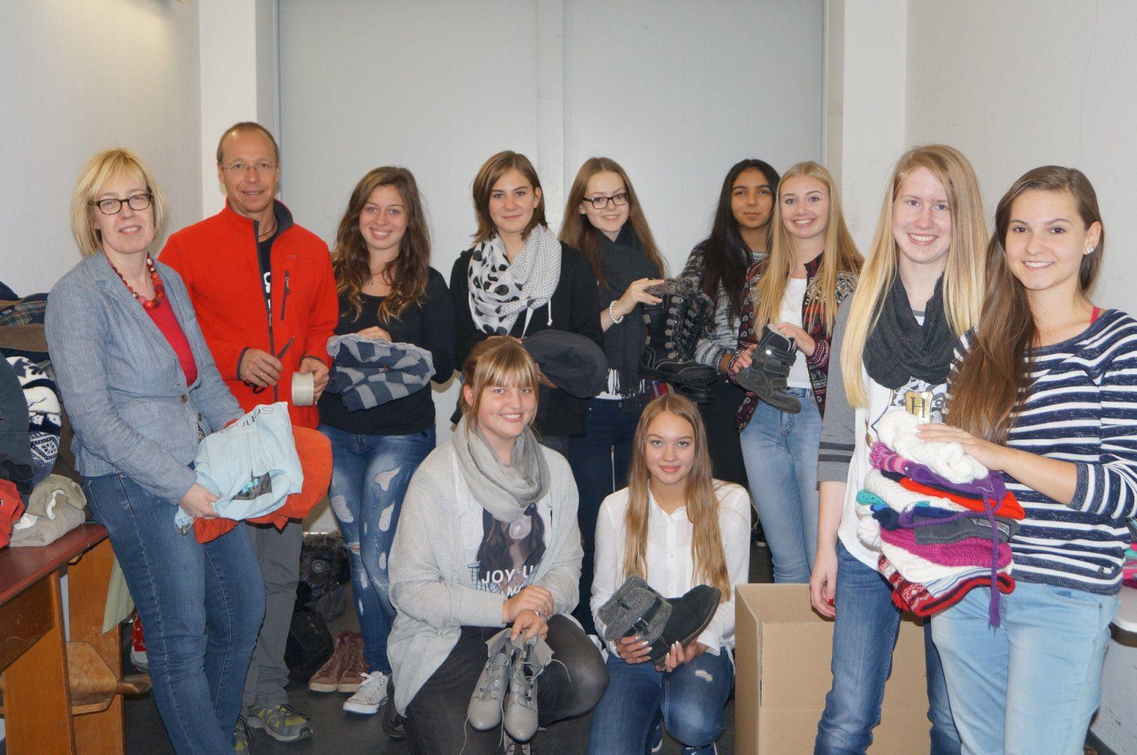 Spendenaktion der SV für Flüchtlinge