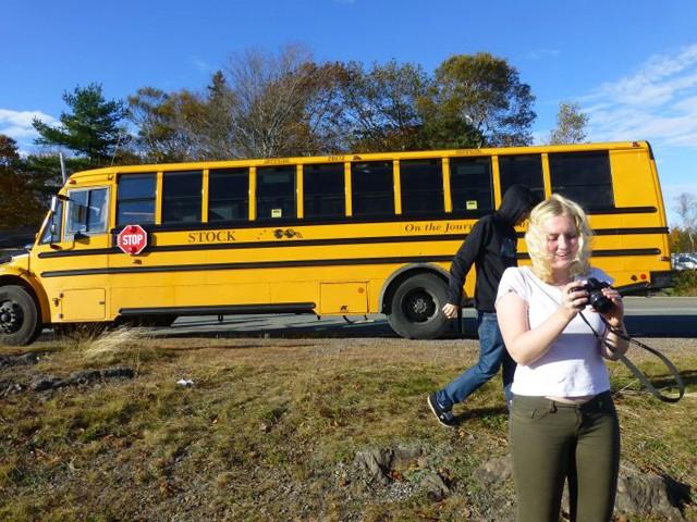 """So sahen die typischen """"School Buses"""" aus."""