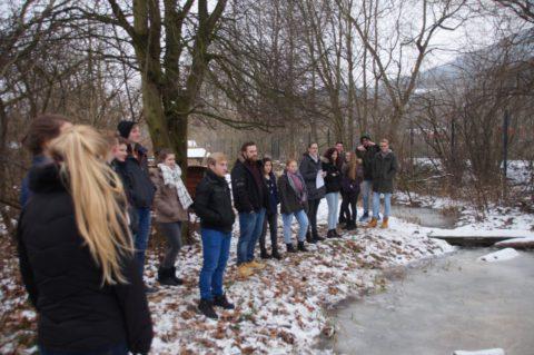 Der Schulteich - auch im Winter ein interessanter Lernort