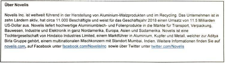 Novelis Werke sponsern 2 3D-Drucker und Notebook