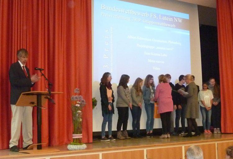 Lateinschüler/innen der Klasse 7 gewinnen dritten Preis im Bundeswettbewerb Fremdsprachen