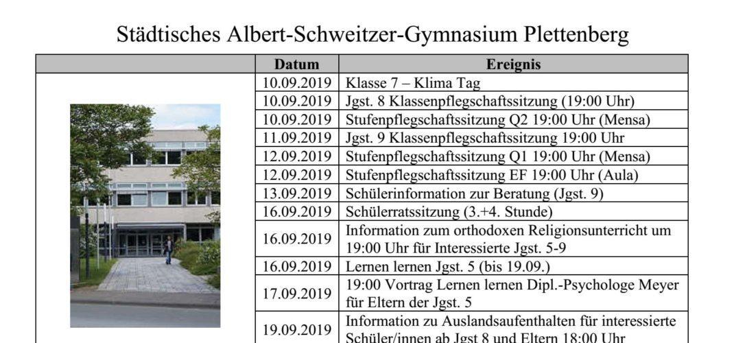 Aktualisierter Eltern-Terminplan 2019/20 für das zweite Halbjahr