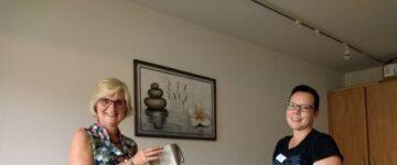 Frau Reitstetter verabschiedet sich im Altenzentrum St. Josef