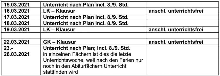 Elternbrief 10 Mrz 21: Informationen zum Start des Wechselunterrichtes ab 15.03.2021