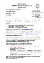 Elternbrief 9 April 21: Schule nach den Osterferien