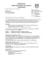 Elternbrief 12. Mai 21: Schule ab 18.05.21